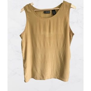 Vintage Diane Gilman Silk Sleeveless Top- L